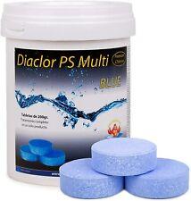 DIACLOR Cloro Lento para Piscinas 5 Efectos BLUE - 5 Pastillas 200 gr - 1 kg