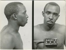 Photo Bertillon identification Policière Police Mug Shot Usa Philadelphia 1961