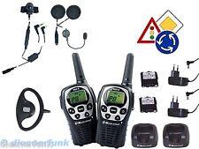 Fahrschulfunk kpl. Set2 PKW zu Motorrad & Motorrad Ausbildung 99 Kanal& Helmsets