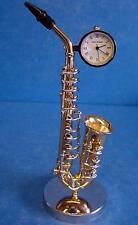WILLIAM WIDDOP MINIATURE SAXOPHONE CLOCK - MODEL MUSICAL INSTRUMENT 9687