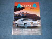 """1986 Shelby Dodge Daytona Superlight Prototype Article """"Awsome 4's"""""""