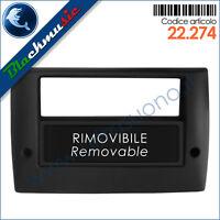 Mascherina supporto autoradio 2ISO-2DIN Fiat Stilo (2001-2007) con portaoggetti