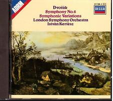 Dvorak: Symphony (Sinfonia) No 6, Symphonic Variations / Kertesz, London - CD