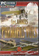 Les ANNÉES des PREMIERS VOLS jeu PC simulations d'avions version Française neuf