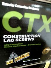 Case Of 15x 4 Big Timber Construction Lag Deck Screws