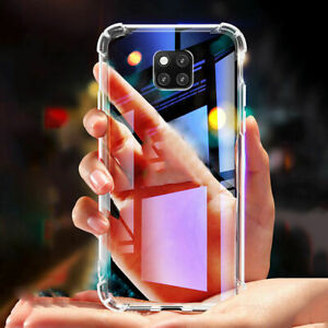 For Huawei P20 P30 P40 Mate20 Pro Ultra Shockproof Silicone Clear Cover Case