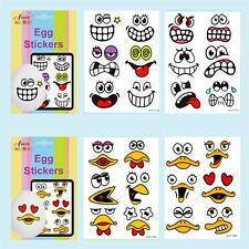 Easter Arts & Craft Decorations Egg Hunt - 1 Pk Funny Face Egg Stickers