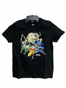 Avatar The Last Airbender Kids Black Short Sleeve T-Shirt XL 14-16 Old Navy