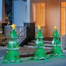 Christmas Inflatable 3 Tree LED Musical Lightshow Airblown Yard Decoration