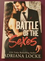 Battle of the Sexes by Adriana Locke Signed Trade Paperback