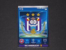 ECUSSON BADGE ANDERLECHT UEFA PANINI FOOTBALL CARD CHAMPIONS LEAGUE 2014 2015