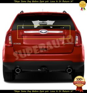 FOR 2012-2014 FORD EDGE CHROME REAR TAILGATE LATCH COVER TRIMS NO LOGO