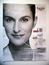 PUBLICITE-ADVERTISING :  EUCERIN Hyaluron Filler CC Cream  2016 Cosmétique