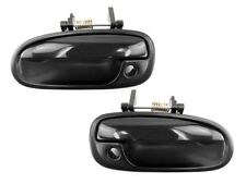 96-00 Honda Civic Exterior Outside Door Handle, Black, Front PAIR
