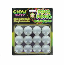 12 Glow In The Dark Beer Ping Pong Table Tennis Balls Washable Drinking