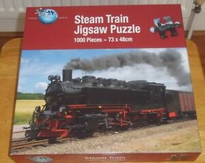 Steam Train Puzzle By World Jigsaw, 1000 Pieces  Excellent Condition