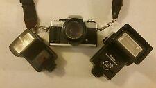 Minolta XG-M 35mm Film Manual Camera with 2 Lens