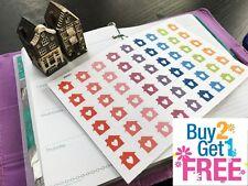 PP251 -- Small Lovely House Life Planner Stickers for Erin Condren (54pcs)