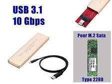 "Gehäuse Aluminium USB 3.1 (10G) m2 - für SSD m.2 NGFF Art ""sata"" Format 2280"