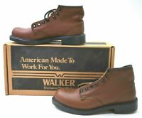 Vintage Walker Shoes 654 Men's Size 7 Leather Oil Resistant Boots Made in USA