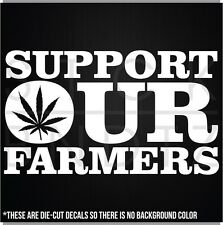 SUPPORT OUR FARMERS MARY JANE WEED OBAMA USA FUNNY DECAL STICKER MACBOOK CAR