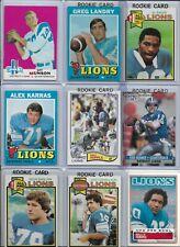 Detroit Lions Vintage Lot (25) Different w/ Rookies Landry Karras Hipple Sims
