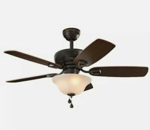 Harbor Breeze Sage Cove 44-in Bronze LED Indoor Ceiling Fan with Light
