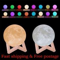 3D Nachtlicht LED Mondlampe Night Desk Lampe Moon Lamp Light Durchmesser 8-20cm