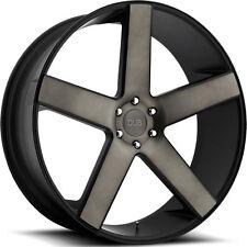 "24"" Dub Wheels Baller Black CONCAVE Rims Escalade Yukon Silverado Sierra 28 26"