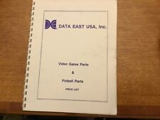 Data East Video Game Parts & Pinball Parts Price List $19.00-Free Shipping