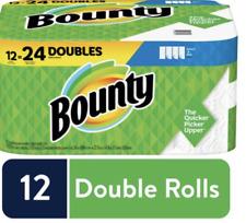 Bounty Paper Towels, 12 = 24 Regular Rolls