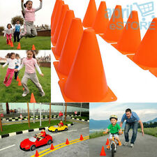 "12 Pcs 7"" Inches Orange Plastic Traffic Cones Construction Theme Party, For Kids"
