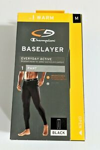 Thermal  Pants Baselayer Champion Everyday Active Black Size Medium (Brand New)