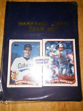 1989-90 Topps Baltimore Orioles Team Complete Team Set Baseball Cards Unopened