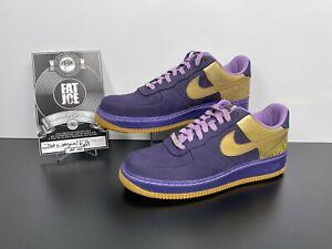 FAT JOE Nike Air Force 1 Supreme 07 Wilkes Original Six Purple DEADSTOCK Size 12
