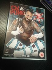 WWE WWF DVD - CM Punk - Best In The World (DVD, 2013, 3-Disc Set)