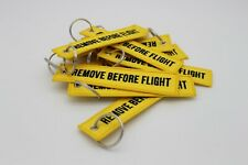 1x Yellow Remove Before Flight Key chain | Keyring | High Quality |Fast Shipping