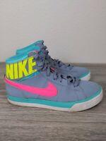 Nike Match Supreme HIGirls Size 5Y School Shoes Gray Volt Pink 654239-002