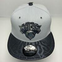 New Era Cap NBA NY Knicks Grey | Black 9FIFTY Snapback Hat