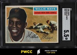 1956 Topps Willie Mays #130 SGC 5.5 EX+ (PWCC-A)