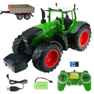 RC Traktor 1:16 Feld Bauernhof Fahrzeug mit Anhänger 70cm Ferngesteuert 2.4G RTR