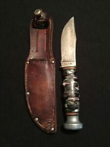 WoW Very Rare KA-BAR Union Cutlery Co Olean NY Fixed Blade Knife Great Condition