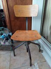 superbe chaise de bureau Réglable en Hauteur Vintage années 50 ou 40