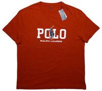 POLO RALPH LAUREN T-Shirt Big Pony Script Red Large L ~ New