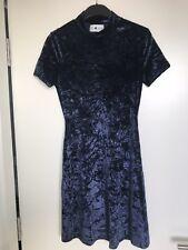Mini Vestido Alexa Chung Vendido De Terciopelo Azul Oscuro Talla 8