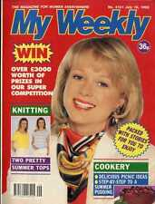 MY WEEKLY MAGAZINE 18/7/92 JUDITH CHALMERS, KNITTING PATTERN PRETTY IN PASTELS