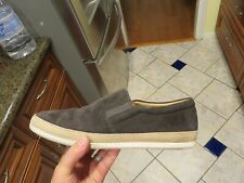 Mens VINCE Chance Suede Leather Slip On Boat Shoes 10.5