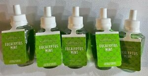 5 Bath & Body Works EUCALYPTUS MINT Wallflowers Home Fragrance Refill 0.8 OZ