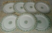 7 Syracuse China Oriental 9.75 Dinner Plates Pink Blue Floral Bamboo Gold No Red