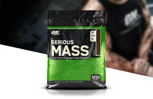 Optimum Nutrition Serious Mass Weight Gainer Protein Powder - Chocolate 12 lbs
